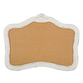 White Ornate Framed Memo Board